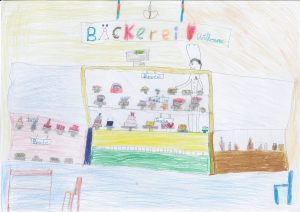 Grundschule Nydamer Weg, gemalt von Sahil und Jan